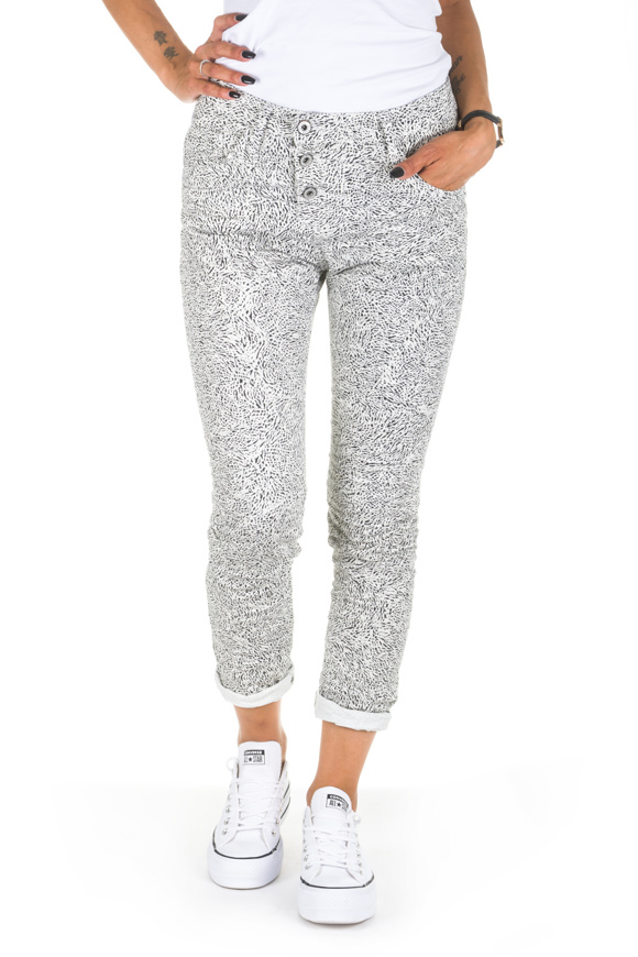 Picture of Please - Jeans P78 W50 - Baggy - Bianco/Grigio