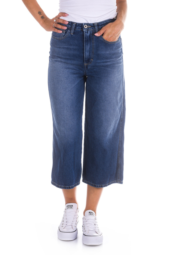 Bild von Please - Jeans P0 Q1T Cropped  - Blu Denim