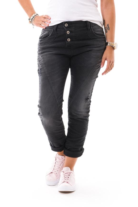 Picture of Please - Jeans P78 M6N - Nero Denim
