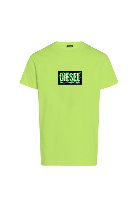 Picture of DIESEL - t-shirt - LIME