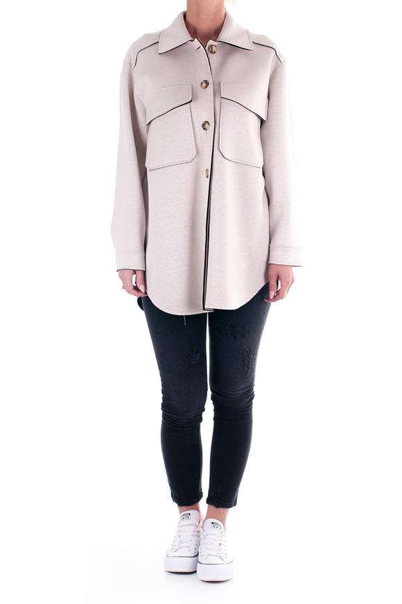 Picture of please - coat - BEIGE/black